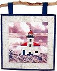 Cape Arago Lighthouse paper pieced quilt pattern from Sentries of Light - Select image to enlarge