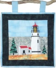 Umpqua River Lighthouse paper pieced quilt pattern from Sentries of Light - Select image to enlarge