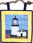 Cape Meares Lighthouse paper pieced quilt pattern from Sentries of Light - Select image to enlarge
