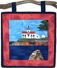 Battery Point Lighthouse paper pieced quilt pattern from Sentries of Light - Select image to enlarge