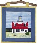 Point Pinos Lighthouse paper pieced quilt pattern from Sentries of Light - Select image to enlarge