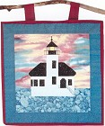 Coquille River Lighthouse applique quilt pattern from Sentries of Light - Select image to enlarge