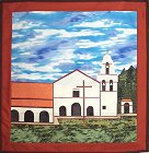 San Juan Bautista Mission applique quilt pattern from Sentries of Light - Select image to enlarge