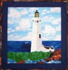 Yaquina Head Lighthouse applique quilt pattern from Sentries of Light - Select image to enlarge
