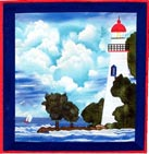 Marblehead Lighthouse applique quilt pattern from Sentries of Light - Select image to enlarge