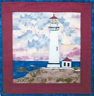 Slide show of lighthouse quilt patterns from Sentries of Light